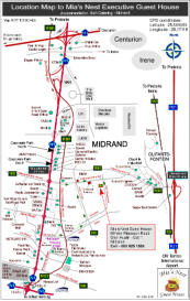 Map, Mias Nest Ececutive Guest House, Midrand